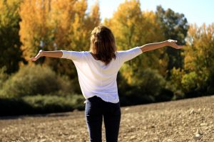 Anxiety Treatment Wichita Ks Woman Happy Outdoors