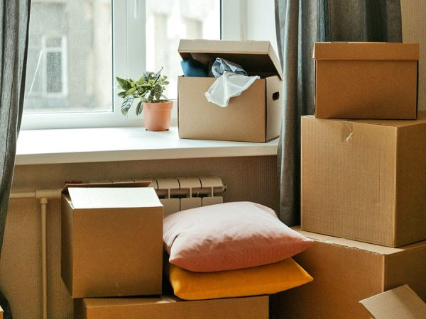 Life Transitions Moving Boxes Living Space